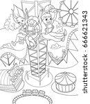 tower ride  tallest amusement... | Shutterstock .eps vector #666621343
