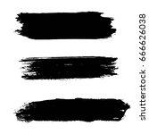 grunge artistic brush strokes... | Shutterstock .eps vector #666626038
