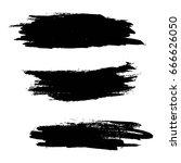 set of grunge artistic brush... | Shutterstock .eps vector #666626050