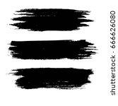 set of grunge shapes vector on... | Shutterstock .eps vector #666626080
