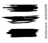 grunge artistic brush strokes... | Shutterstock .eps vector #666626098