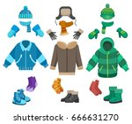 male winter clothing isolated... | Shutterstock .eps vector #666631270