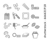 set of pasta related vector... | Shutterstock .eps vector #666631918