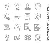 set of intellectual property... | Shutterstock .eps vector #666631963