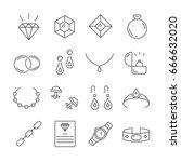 set of jewelry related vector... | Shutterstock .eps vector #666632020