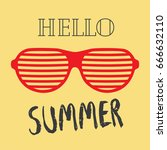 summer backgrounds collection.... | Shutterstock .eps vector #666632110