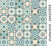 gorgeous seamless pattern white ... | Shutterstock .eps vector #666632818