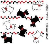 scottie dog | Shutterstock .eps vector #666634000