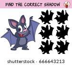 funny little bat. find the... | Shutterstock .eps vector #666643213