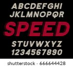 speed decorative font linear... | Shutterstock .eps vector #666644428
