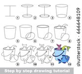 kid game to develop drawing... | Shutterstock .eps vector #666648109