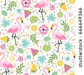 seamless decorative pattern...   Shutterstock .eps vector #666649366