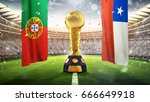 confederations cup. golden... | Shutterstock . vector #666649918