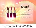 design cosmetics lipstick with... | Shutterstock .eps vector #666652984