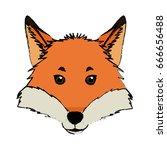 head fox animal wildlife nature ... | Shutterstock .eps vector #666656488