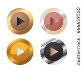 play button | Shutterstock .eps vector #666659530