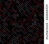 geometric random lines pattern. ... | Shutterstock .eps vector #666666424