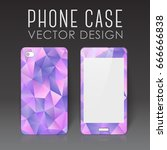 case for mobile phone with... | Shutterstock .eps vector #666666838