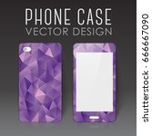 case for mobile phone with... | Shutterstock .eps vector #666667090