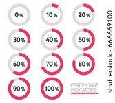 circular progress bar   ten... | Shutterstock .eps vector #666669100