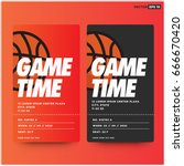 game time basketball event... | Shutterstock .eps vector #666670420