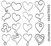 illustration vector hand drawn... | Shutterstock .eps vector #666670453