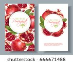 vector vertical banners with... | Shutterstock .eps vector #666671488