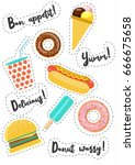 fast street food vector... | Shutterstock .eps vector #666675658