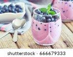 Blueberry Yogurt Served With...