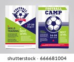 football  soccer camp posters ... | Shutterstock .eps vector #666681004