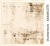 grunge scratched texture... | Shutterstock . vector #666681370
