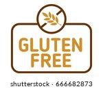 gluten free label vector.... | Shutterstock .eps vector #666682873