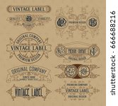 old vintage floral elements  ... | Shutterstock .eps vector #666688216