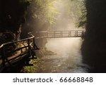 Wooden Bridge During Sunny...