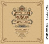 old vintage card with floral... | Shutterstock .eps vector #666689953