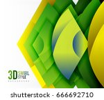 swirl and wave 3d effect... | Shutterstock .eps vector #666692710