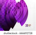 swirl and wave 3d effect... | Shutterstock .eps vector #666692728