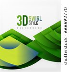 swirl and wave 3d effect... | Shutterstock .eps vector #666692770