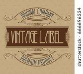 vintage typographic label... | Shutterstock .eps vector #666696334