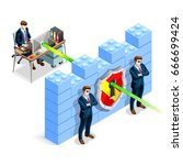 network security concept with... | Shutterstock .eps vector #666699424