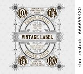 old vintage card with floral... | Shutterstock .eps vector #666699430