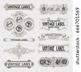 old vintage floral elements  ... | Shutterstock .eps vector #666701569