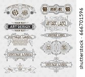 old vintage floral elements  ... | Shutterstock .eps vector #666701596