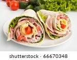 Wrapped Tortilla Sandwich Roll...