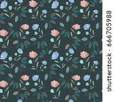 flower pattern | Shutterstock .eps vector #666705988
