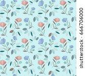 flower pattern | Shutterstock .eps vector #666706000