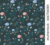flower pattern | Shutterstock .eps vector #666706084