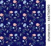 flower pattern | Shutterstock .eps vector #666706090