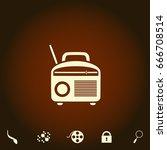 radio simple vector icon....
