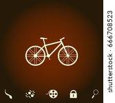 bike simple vector icon....